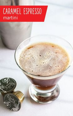 One part coffee and one part booze, this Caramel Espresso Martini recipe combines your two favorites into one tasty cocktail! Whip up this delicious drink for a nightcap that is sure to be a hit with your taste buds. Coffee Cocktails, Cocktail Drinks, Martini Recipes, Cocktail Recipes, Espresso Martini, Espresso Coffee, Coffee Coffee, Coffee Time, Morning Coffee