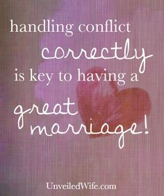 How To Resolve Conflict In Marriage --- Going to church has been a vital part of the growth I have experienced in my character, in my relationship with God, and in my marriage. Over the last four years my husband and I have been attending [...]… Read More Here http://unveiledwife.com/how-to-resolve-conflict-in-marriage/ #marriage #love