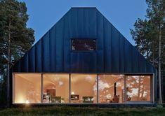 Modern Metal-Clad House Husarö is Nestled High on a Swedish Island Hillside Husarö House by Tham & Videgård – Inhabitat - Green Design, Innovation, Architecture, Green Building