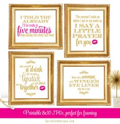 Hello Gorgeous Printable Wall Art Quote Print by SprinkledDesign