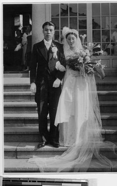 Portrait of bride and groom, Shingishu, Korea, 1937 :: International Mission Photography Archive, Pictures To Draw, Old Pictures, Old Wedding Photos, Korean Peninsula, University Of Southern California, My Wife Is, Folklore, South Korea, Vintage Photos