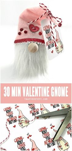 30 minute valentines day gnome ©tauni everett hero day crafts for a. 30 minute valentines day gnome ©tauni everett hero day crafts for adults gift Valentines Day Food, Valentines Day Decorations, Valentine Day Crafts, Be My Valentine, Holiday Crafts, Valentine Ideas, Easter Crafts, Holiday Ideas, Holiday Decor