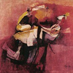 Afro Basaldella, Ragazzo col tacchino, 1955