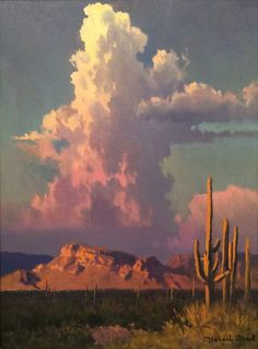 Artist: Michael Stack - Title: Evening Thunderhead - oil
