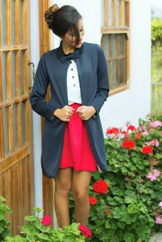 abrigo plomo en look casul fashion blogger