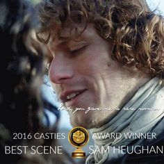 "Outlander Cast on Twitter: ""#Outlander Casties Best @SamHeughan   Scene - ""Lord you gave me a rare woman..."""
