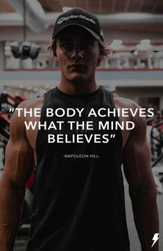 """The body achieves what the mind believes. Napoleon Hill, Athlete, Believe, Fitness, Mens Tops, T Shirt, Inspiration, Women, Fashion"