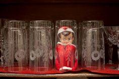 cute elf on the shelf idea by summer