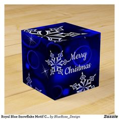 Royal Blue Snowflake Motif Cube Favor Box Holiday Parties, Holiday Cards, Christmas Cards, Merry Christmas, Christmas Favors, Christmas Card Holders, Favor Boxes, Keep It Cleaner, Snowflakes