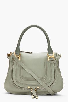 Delicate pastels at Chloe - Dusty moss green calfskin Marcie