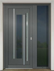 The plastic and aluminium doors manufactured by GAVAplast are characterized with modern design and excellent quality. They are available in numerous wood imitations and colours RAL. Contemporary Front Doors, Modern Door, Front Door Entrance, Entry Doors, Door Design Interior, Exterior Design, Rustic Design, Modern Design, Small Backyard Patio