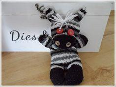 Sockentiere / Zebra, mit Anleitung