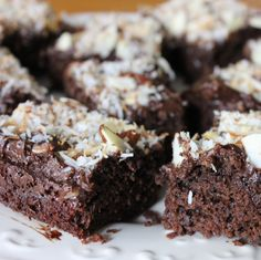 Paleo Almond Joy Brownies.