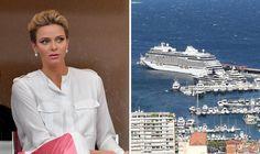 Princess Charlene's royal kiss christens £340million Regent Seven Seas Explorer