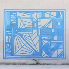 Gustavo Fuentes - masking tape-possible collaboartive op art piece by the students?