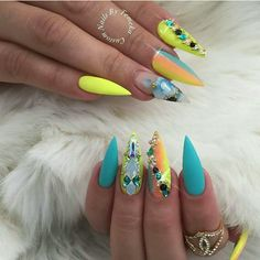Best Beauty Nails Part 11 Dope Nails, Glam Nails, Neon Nails, Fancy Nails, Bling Nails, Stiletto Nails, Beauty Nails, Pretty Nails, Fabulous Nails