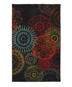Take a look at this Dark Chocolate Medaglia Rug by Mohawk Home on #zulily today!