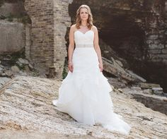 Love the shape of this elegant wedding gown.Matt Blum Photography