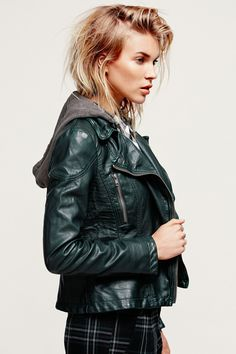 30 Faux Leather Jackets That Look Like The Real Deal #refinery29 http://www.refinery29.com/faux-leather-jacket#slide18