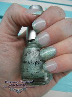 Fairytale Frosting: Sparkle French Manicure