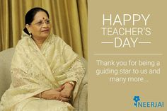 Thank you for being a guiding star to us and many more... Happy Teacher's Day!!