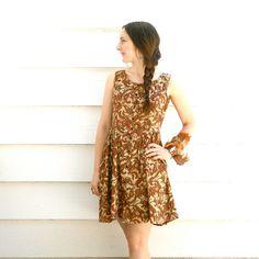 Boho Dress// Cotton Paisley Print Dress// by AstralBoutique, $28.00