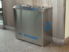 All Stainless Steel; Hendrix R-1 Recycling Bin