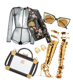 """GOOLD"" by mxbm ❤ liked on Polyvore featuring Tom Ford, MCM, Fendi, Ann Demeulemeester, Gucci and Bulgari"