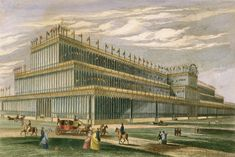 The Crystal Palace, c. 1851. Rakow Research Library of The Corning Museum of Glass.