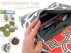 How to Insert a Magnetic Snap Closure | Sew4Home