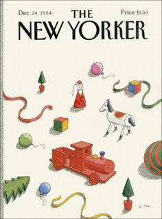 olympialetan:    Still feeling the Christmas spirit… December 24th, 1984 New Yorker cover by Pierre Le-Tan.     ditto - a bit at least.