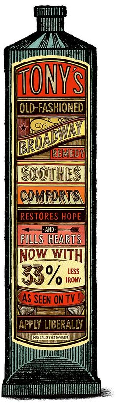 by Christian Northeast. vintage label & type