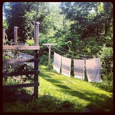 Country garden, clothes line | Appreciated things