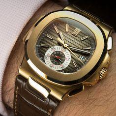 Fancy   Patek Philippe 5980R Nautilus 18K Rose Gold Watch