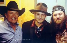 George Strait, Johnny Depp, and Willie Robinson
