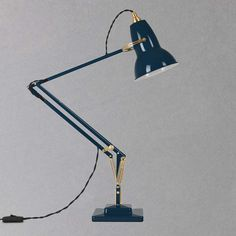 BuyAnglepoise 1227 Desk Lamp, Ink / Brass Online at johnlewis.com
