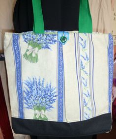 French Lavender fabric Tote Bag  Sale by SimJaTa on Etsy, £6.50