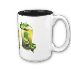Olive Oil Coffee mug- do you dare drink your coffee in an oily mug LOL Sorry I couldn't help myself