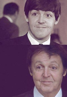 Not much has changed, Sir Paul. Add a few wrinkles, take away some of your mop top, and boom, you've still got that goofy look nearly 50 years later. :)