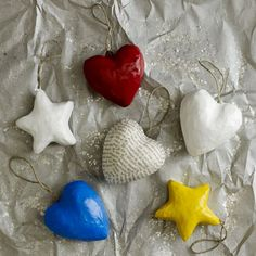 Hearts & Stars for Haiti (Christmas ornaments designed by Haitian artists) plus nine other charitable holiday items at westelm.com - portion of the sales go to help various charity organizations