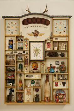 wunderkammer: reminds me of how i used to decorate. definitely wunderkammer!