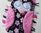 Owl Tag Blankie. Krystle i thought of you! lol