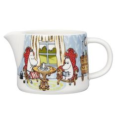 Moomin Afternoon in parlor pitcher l by Arabia - The Official Moomin Shop Moomin Shop, Moomin Mugs, Blue Blanket, Picnic Blanket, Vanilla Sauce, Tove Jansson, Ceramic Figures, Motif Design, Milk Jug