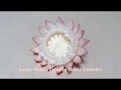 Fan Flower Fennel Aniseed - Beginners Lesson 1 By Mutita The Art In Fruit And Vegetable Carving - YouTube
