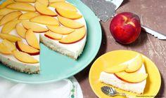 aztecaamerica Cheesecake, Dairy, Yolo, Desserts, Deserts, Recipes, Peaches, Get Well Soon, Tailgate Desserts