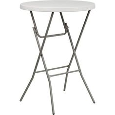 """Flash Furniture 32'' Round Granite White Plastic Bar Height Folding Table by Flash Furniture. $41.99. Color: Gray/ White. Size: 31.25""""H x 31.25""""W x 43.5""""D. Commercial grade folding table.. 1.75'' thick granite table top.. Impact and stain resistant plastic top.. This Bar Height Folding Table can be used in banquet halls, hotels, or in the home. This table is a great solution for temporary seating for gatherings. Flash Furniture's 32'' Round Folding Table features a durable sta..."""