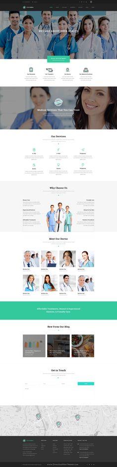 Columba beautiful premium Medical PSD Template. It has 31 PSD files and 5 homepage version. #clinic #psdtheme #website