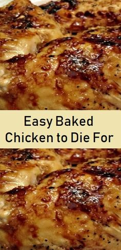 Outrageous Baked Chicken tо Die For!- Outrageous Baked Chicken tо Die For! – Don't LOSE thіѕ recipe! Easy Chicken Recipes, Turkey Recipes, Meat Recipes, Cooking Recipes, Recipies, Easy Chicken Dishes, Best Baked Chicken Recipe, How To Bake Chicken, Casseroles With Chicken