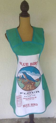 I am making aprons using the Blue Bird Flour sack. These are $ 30 plus shipping. Available through melissabecrafty on Facebook