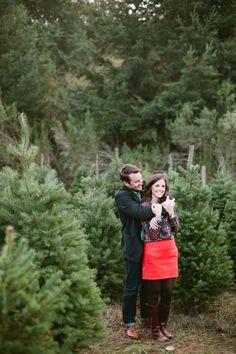 Christmas tree farm anniversary session: http://www.stylemepretty.com/2015/12/24/marriage-matters-christmas-tree-farm-anniversary-session/   Photography: Sorella Muse - http://sorella-muse.com/